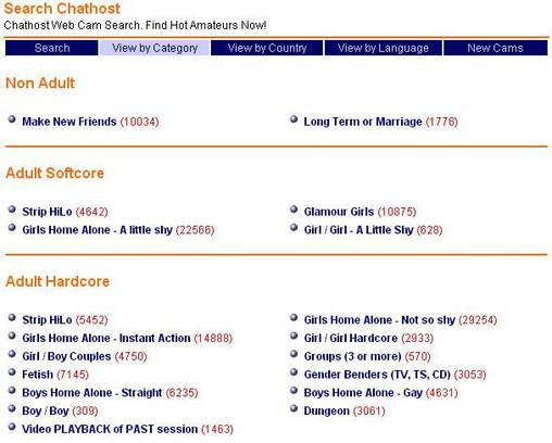 Screenshot of Elaborate Categories