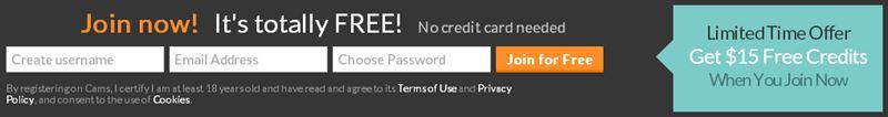 Screenshot of Cams.com Free Signup Form