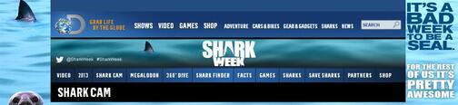 Screenshot of Shark Week Menu