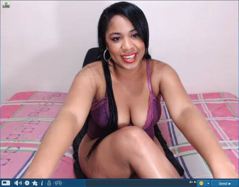 Screenshot of Live Ebony Webcam at Sexier.com