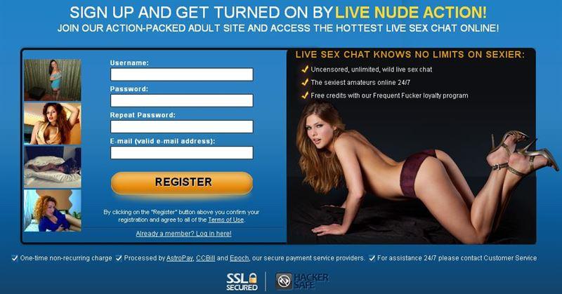 Screenshot of Free User Registration