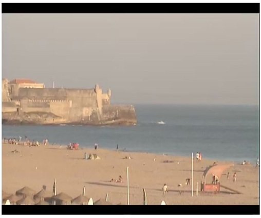 Screenshot of Live Surf Cam Feed