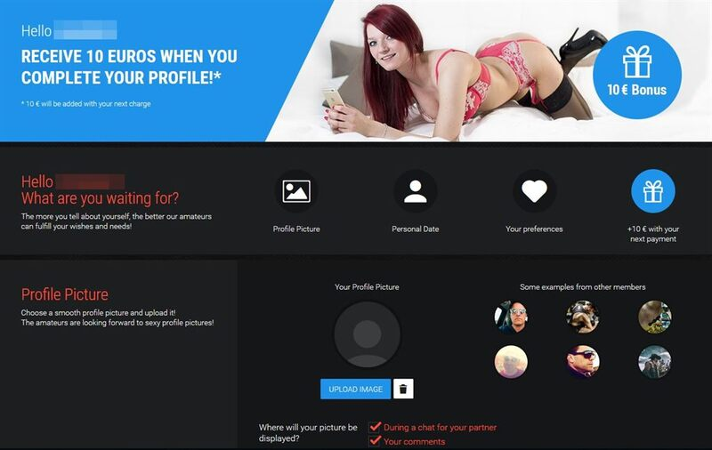 User profile page on Visit X