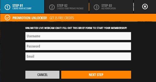 Screenshot of Creating a Free User