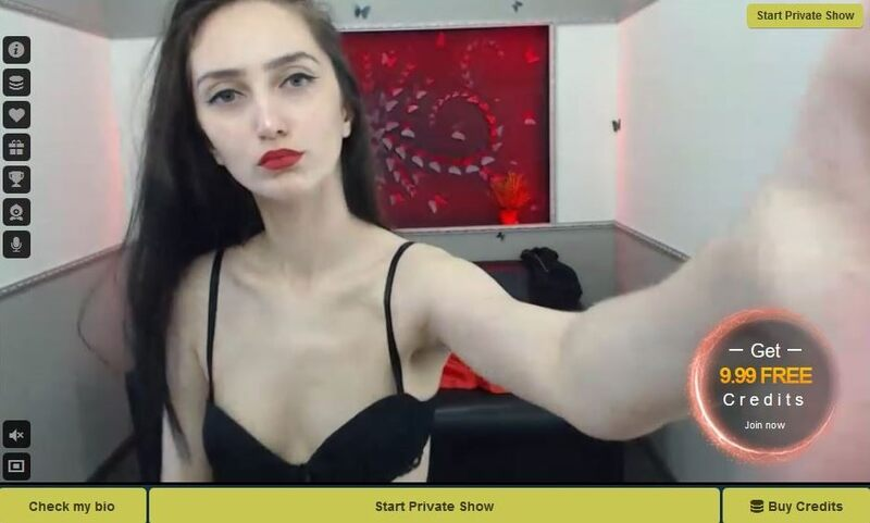 A thin young amateur model on LivePrivates
