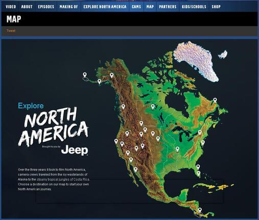 Screenshot of Interactive Map