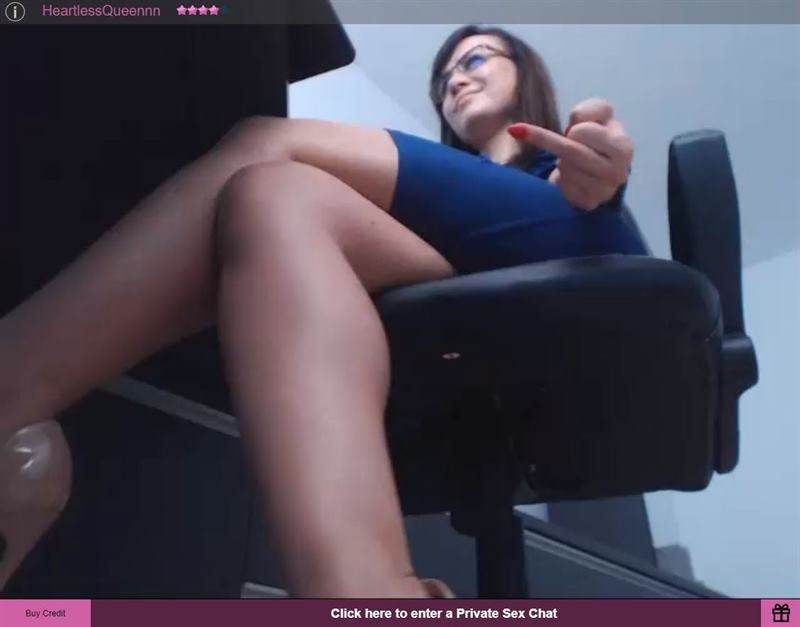 FetishGalaxy domme flipping off naughty subject