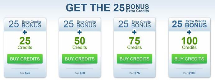Twenty Five Free Credits