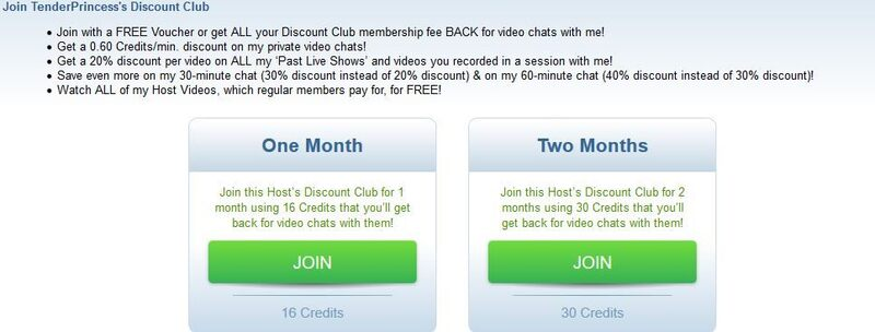 An ImLive Discount Club screenshot