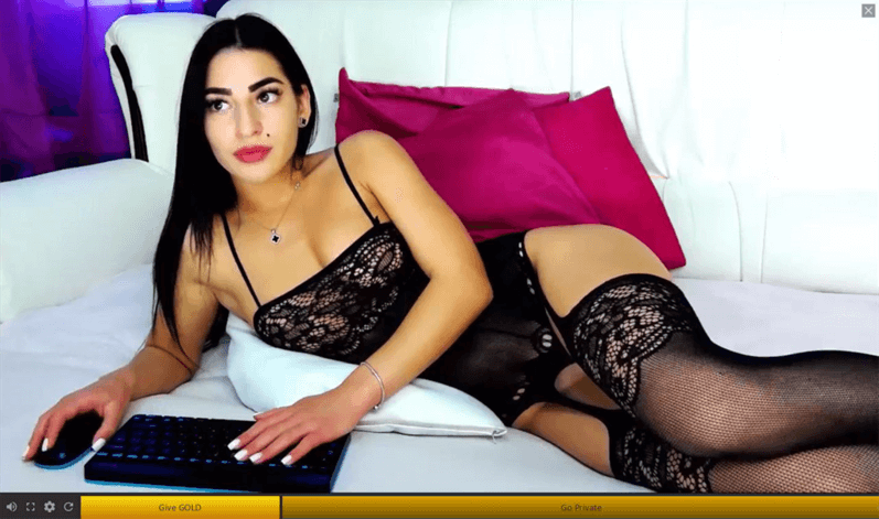 Cute LiveMindy webcam model in lingerie and pantyhose
