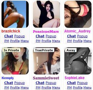 Chat options on MyFreeCams