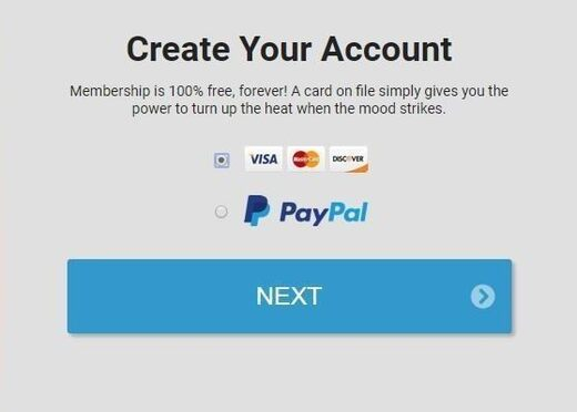 Streamate.com's payment options