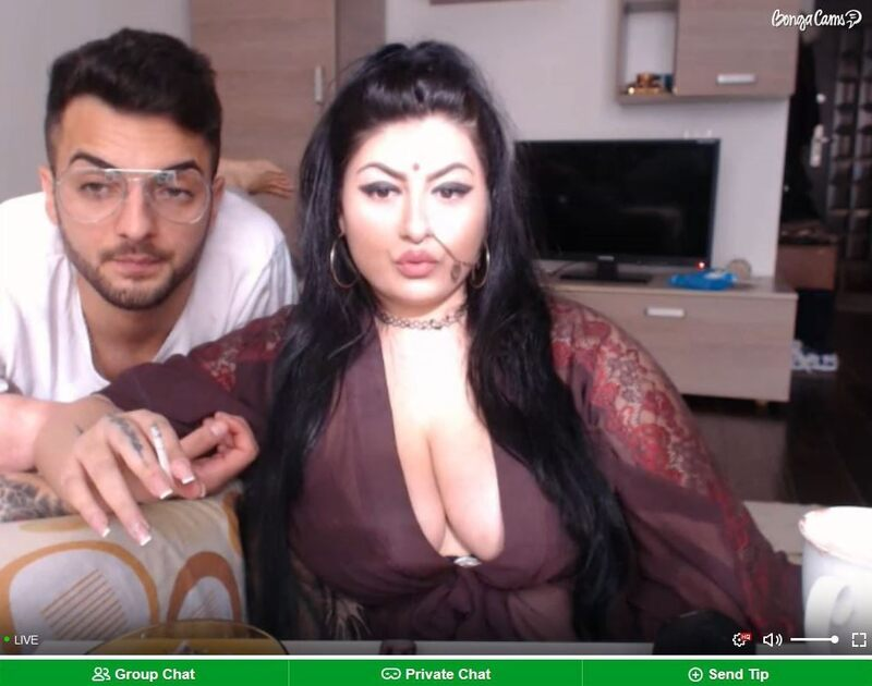 A BBW couple live on BongaCams