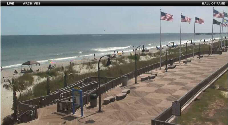 Screenshot of Myrtle Beach Live Cam
