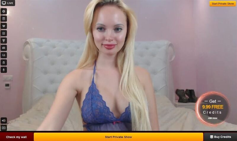 Sweet young innocent looking webcam model