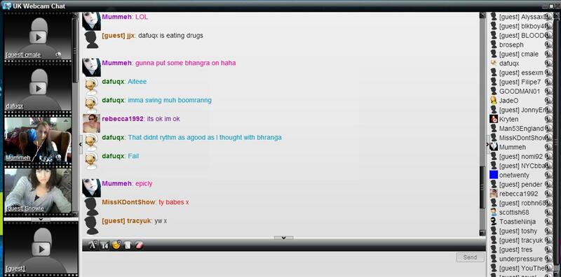 Screenshot of Live Chat Room