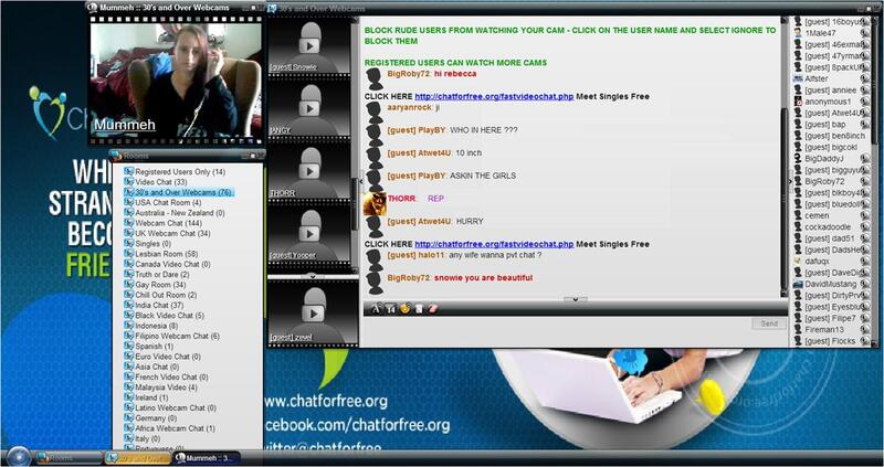 Screenshot of Live Webcam Chat Room Session