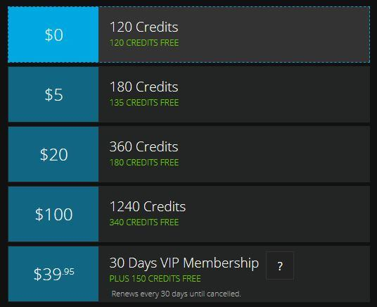 Flirt4Free introductory credit packages