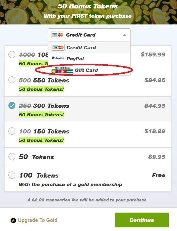 How to pay using a gift card at Cam4.com