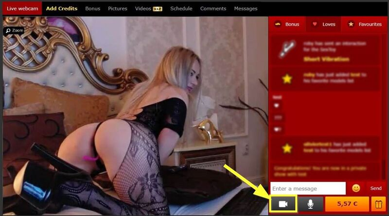 How to c2c on xLoveCam on a computer