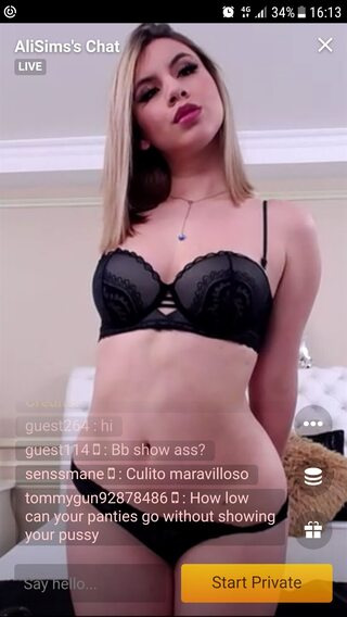 Sexy latina webcam model watched on an Android phone