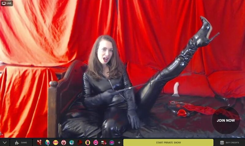 LivePrivates webcam model in full leather