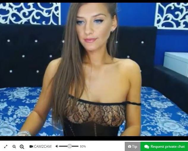 Blue eyed german cam girl live on MyDirtyHobby
