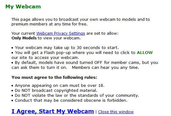 MyFreeCams webcam to webcam setup