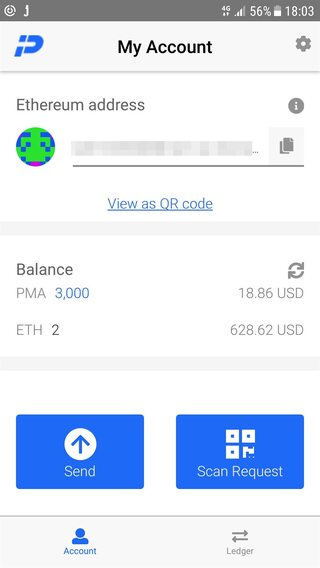 PumaPay wallet app screenshot