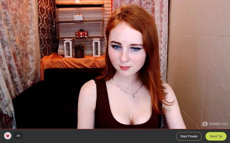 Stripchat pale ginger webcam girl