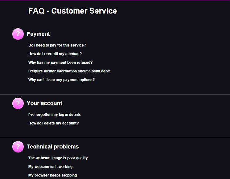 FAQ at XCams