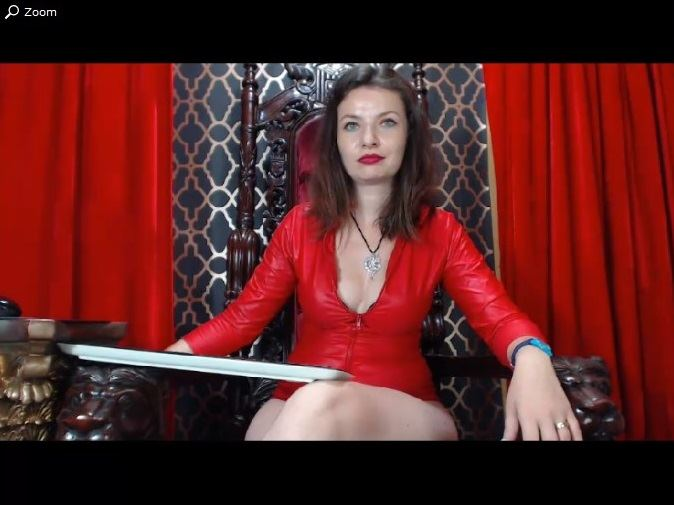 Stunning Russian dominatrix giving her guests the business