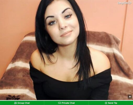 A screenshot of one of BongaCam's gorgeous webcam models