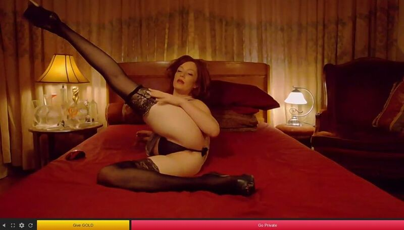 Stunning redhead showing off her long legs and high heels on 121SexCams
