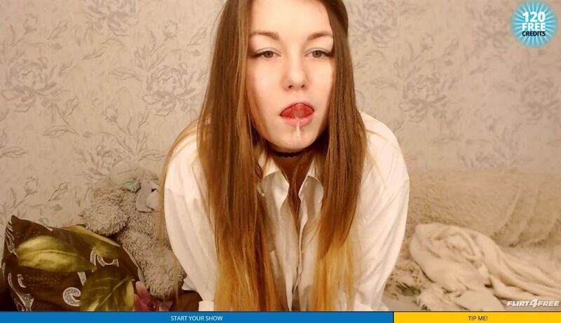 Sexy cam girl drooling on Flirt4Free