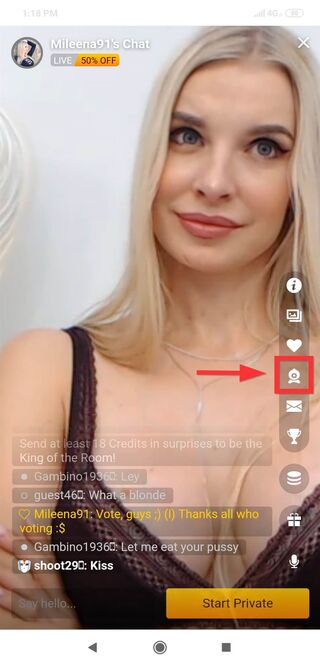 LiveJasmin mobile cam2cam instructions