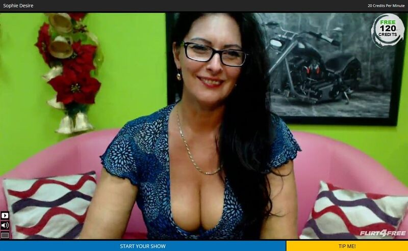 Mature brunette bombshell at Flirt4Free.com